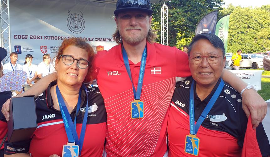2x Europamestre Karl Johan Nybo og Lydie Hellgren og Bronzevinder Lena Brammer